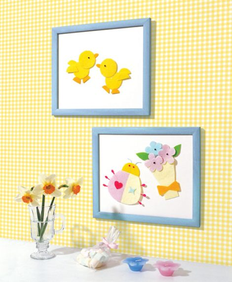 Check Pattern Yellow Contact Paper Peel Stick Wallpaper DPS-41 Decoration