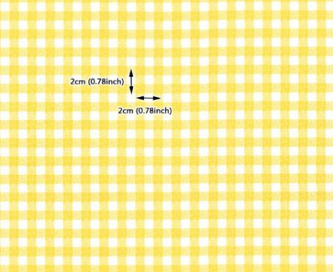 Check Pattern Yellow Contact Paper Peel Stick Wallpaper DPS-41 Pattern Size