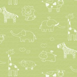Animal Green Kids Contact Paper Peel Stick Wallpaper DPS-53