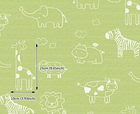 Animal Green Kids Contact Paper Peel Stick Wallpaper DPS-53 Pattern Size