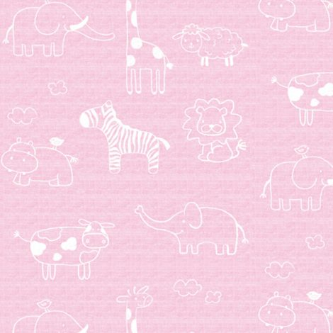 Animal Pink Kids Contact Paper Peel Stick Wallpaper DPS-54