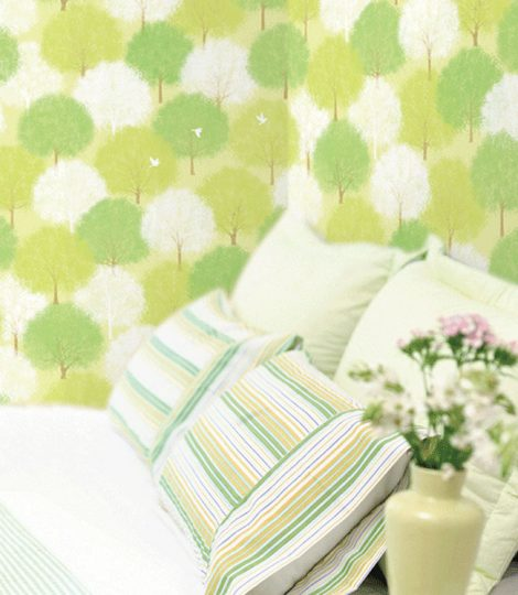 Forest Green Pattern Contact Paper Peel Stick Wallpaper DPS-60 Display