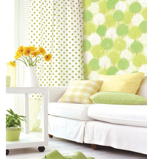Forest Green Pattern Contact Paper Peel Stick Wallpaper DPS-60 Application