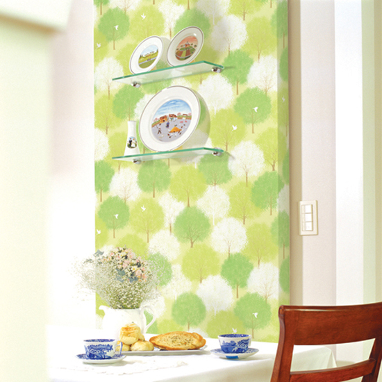 Forest Green Pattern Contact Paper Peel Stick Wallpaper DPS-60 Decoration