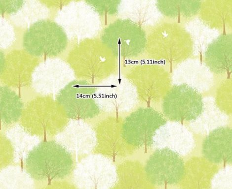 Forest Green Pattern Contact Paper Peel Stick Wallpaper DPS-60 Pattern Size