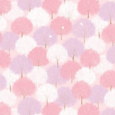 Forest Pink Pattern Contact Paper Peel Stick Wallpaper DPS-61