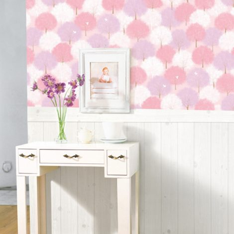 Forest Pink Pattern Contact Paper Peel Stick Wallpaper DPS-61 Decoartion