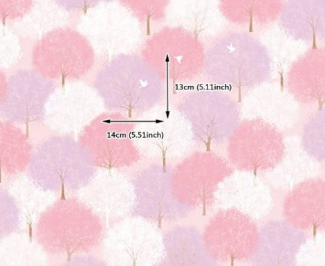 Forest Pink Pattern Contact Paper Peel Stick Wallpaper DPS-61 Pattern Size