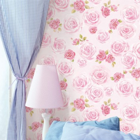 Blooming Rose Contact Paper Peel and Stick Wallpaper DPS-64 Application
