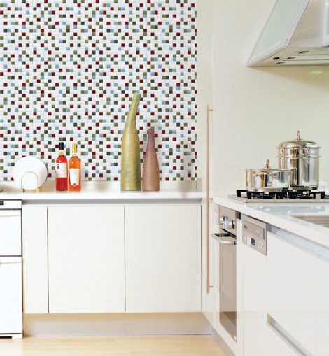 Green Tile Looking Contact Paper Peel Stick Wallpaper DPS-65 Display