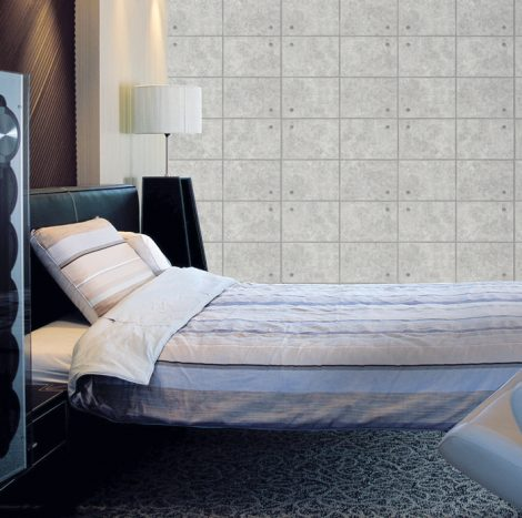 Gray Concrete Brick Contact Paper Peel Stick Wallpaper DPS-70 Application