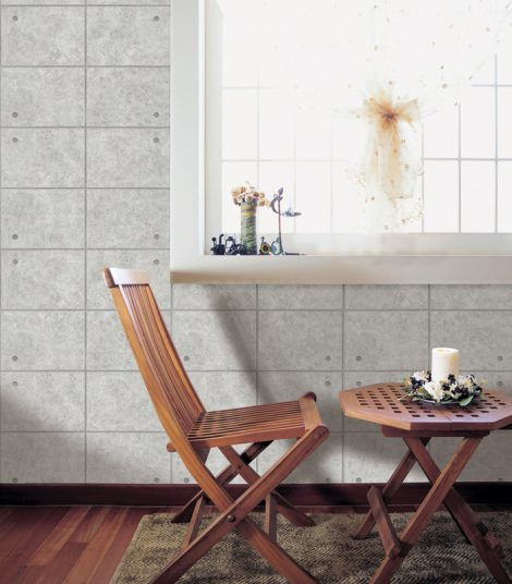 Gray Concrete Brick Contact Paper Peel Stick Wallpaper DPS-70 Display