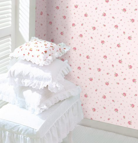 Pink Floral Contact Paper Peel and Stick Wallpaper DPS-71 Decoration