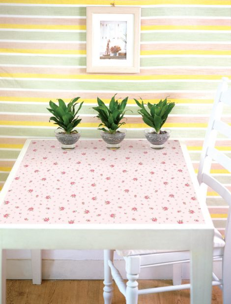 Pink Floral Contact Paper Peel and Stick Wallpaper DPS-71 Display