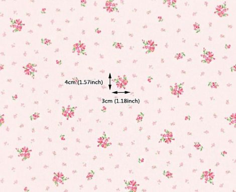 Pink Floral Contact Paper Peel and Stick Wallpaper DPS-71 Pattern Size