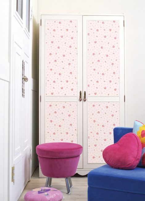 Pink Floral Contact Paper Peel and Stick Wallpaper DPS-71 Application