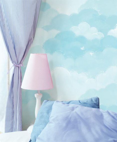 Cotton Candy Blue Contact Paper Peel and Stick Wallpaper DPS-73 Decoration