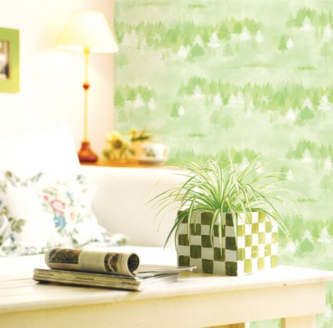 Forest Pattern Green Contact Paper Peel and Stick Wallpaper DPS-74 application