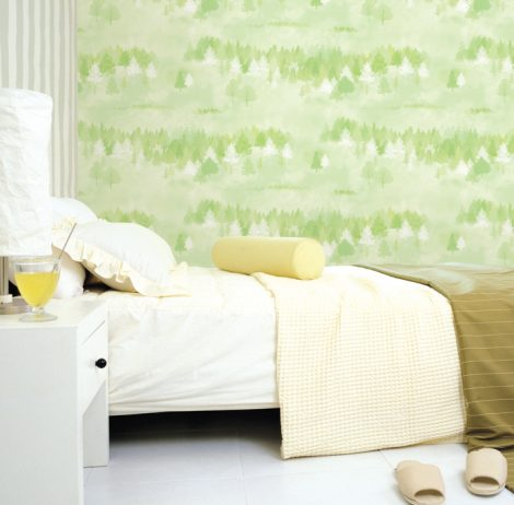 Forest Pattern Green Contact Paper Peel and Stick Wallpaper DPS-74 Sample