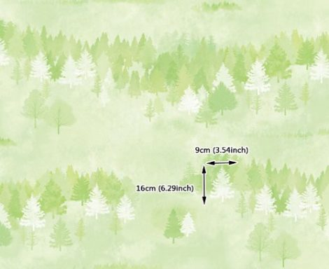 Forest Pattern Green Contact Paper Peel and Stick Wallpaper DPS-74 Pattern Size