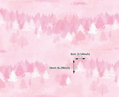 Forest Pattern Pink Contact Paper Peel and Stick Wallpaper DPS-75 Pattern Size