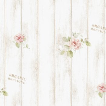 Rose Shabby Panel Contact Paper Peel and Stick Wallpaper DPS-77