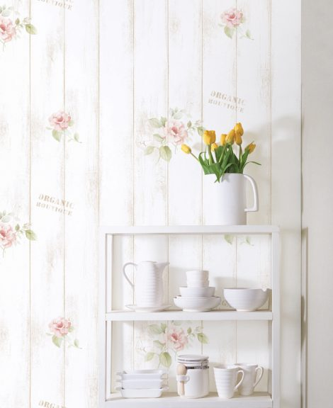 Rose Shabby Panel Contact Paper Peel and Stick Wallpaper DPS-77 Sample