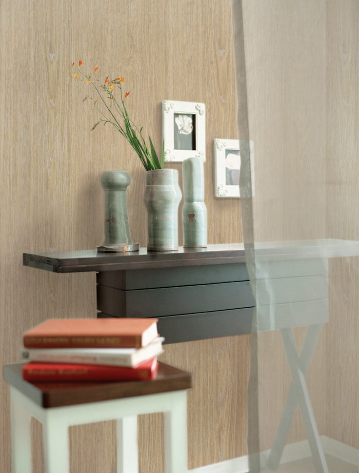 Silver Brown Wood Contact Paper Peel Stick Wallpaper
