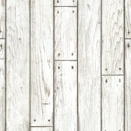 Shabby Panel White Wood Contact Paper Peel Stick Wallpaper DWP-09