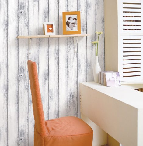 Modern Shabby Panel Wood Contact Paper Peel Stick Wallpaper DWP-11 Decoration