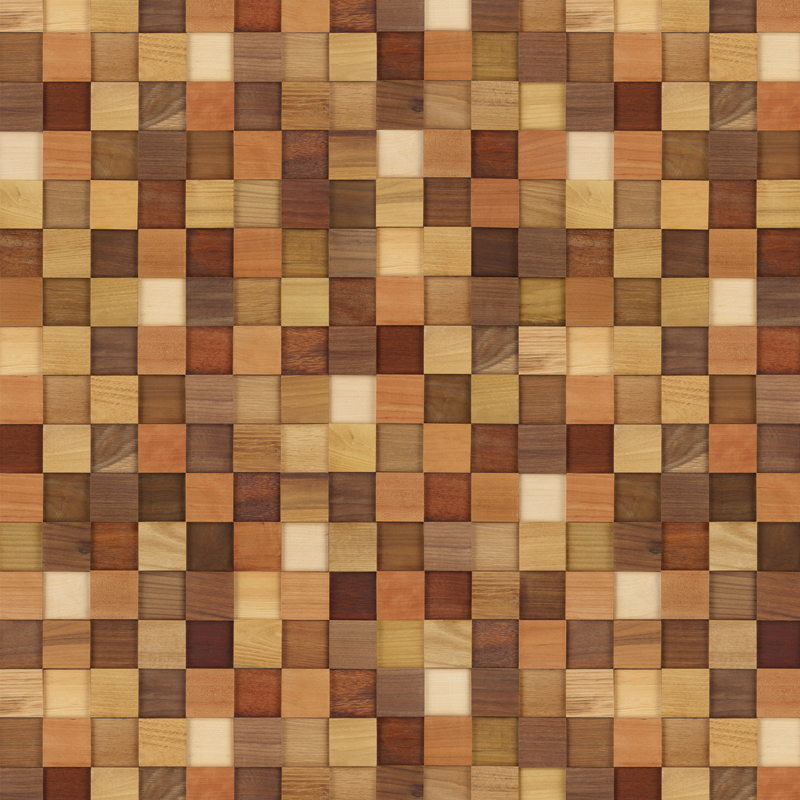 Modern Mosaic Wood Contact Paper Peel Stick Wallpaper
