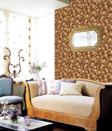 Modern Mosaic Wood Contact Paper Peel Stick Wallpaper DWP-12 Wall Decoration
