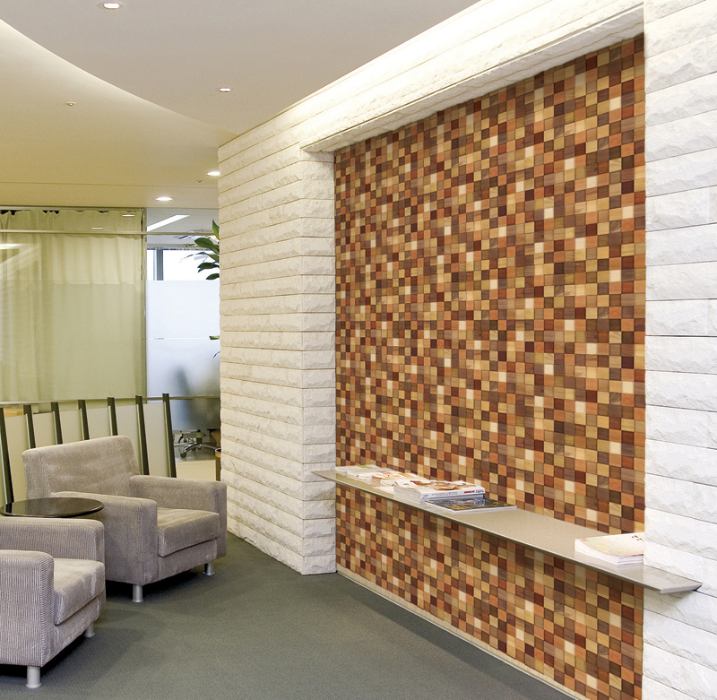 Modern Mosaic Wood Contact Paper Peel Stick Wallpaper DWP-12 Sample