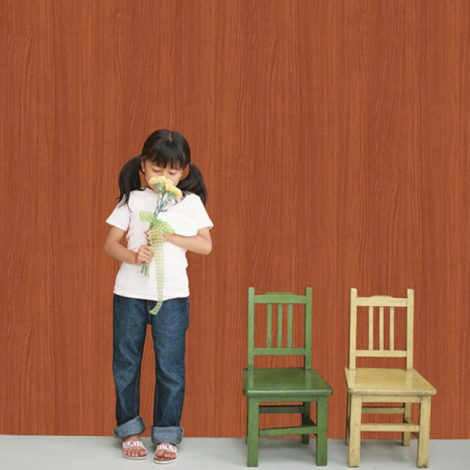 Cherry Brown Wood Contact Paper Peel Stick Wallpaper AWS-11001 Application