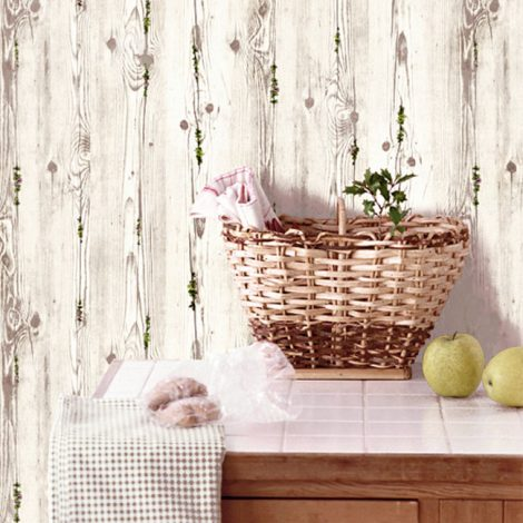 Wood Flower Gray Contact Paper Peel Stick Wallpaper AWS-11009 Decoration