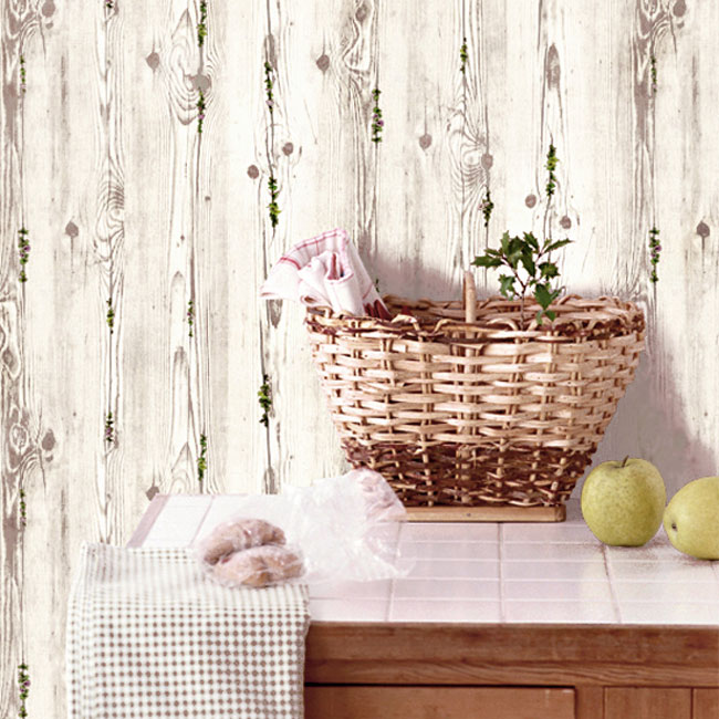 Wood flower gray contact paper peel stick wallpaper Floral peel and stick wallpaper