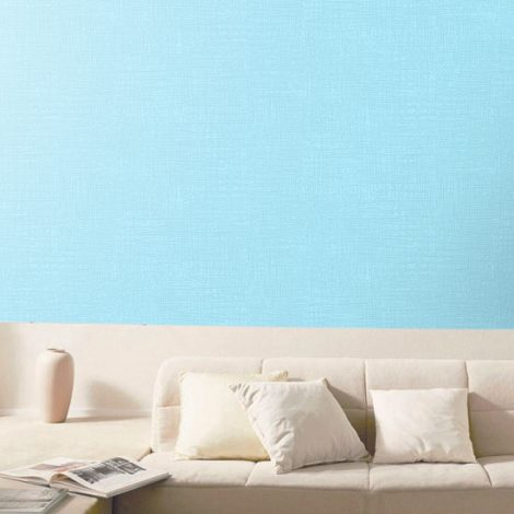 Blue Contact Paper Wall Covering Peel Stick Wallpaper AWS-12005 Display