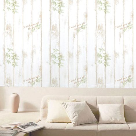 Shabby Panel Brown Contact Paper Peel Stick Wallpaper AWS-20001 Decoration