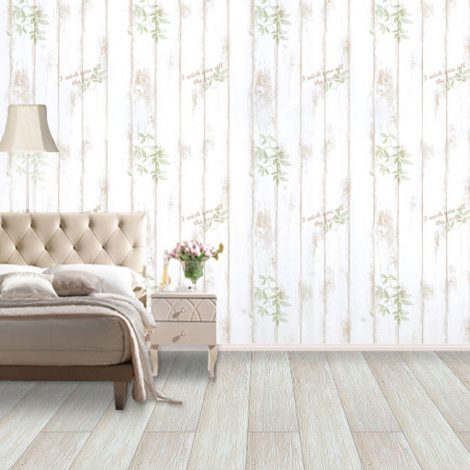 Shabby Panel Brown Contact Paper Peel Stick Wallpaper AWS-20001 Display