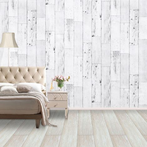 Shabby Panel White Contact Paper Peel Stick Wallpaper AWS-20003 Application