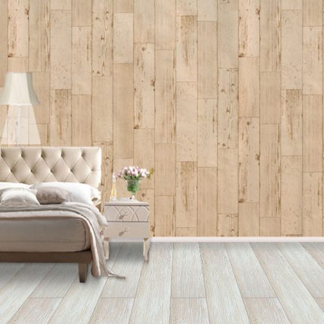 Shabby Panel Cappuccino Contact Paper Peel Stick Wallpaper AWS-20004 Decoration