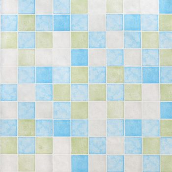 Blue Green Tile Contact Paper Peel Stick Wallpaper AWS-20005