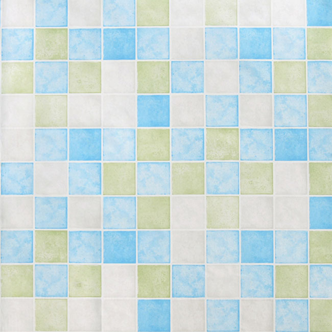 Blue Green Tile Contact Paper Peel Stick Wallpaper