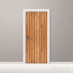 Door Contact Paper Vertical Wooden Logs Pattern #1