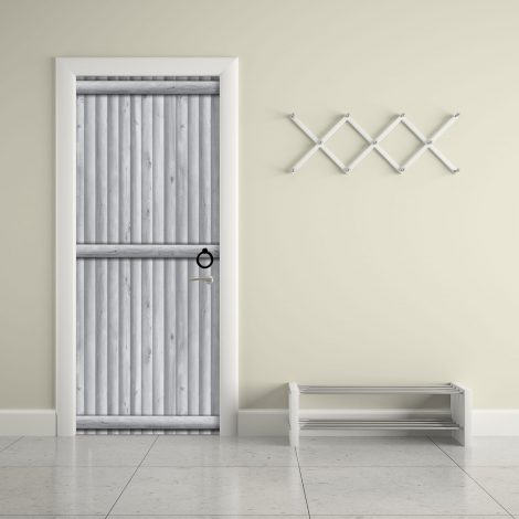 Door Contact Paper Self Adhesive Gray Wood Log Panel office