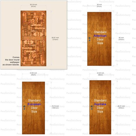 Carved Wood Typography Door Contact Paper size