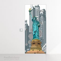 Statue of Liberty Door Contact Paper Wallpaper