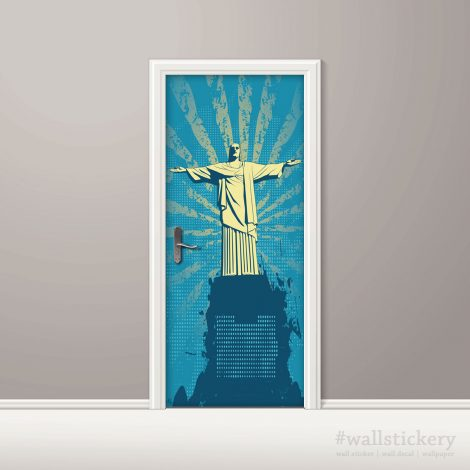 Christ the Redeemer Door Wall Sticker Contact Paper