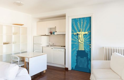 Christ the Redeemer Door Wall Sticker Contact Paper kitchen