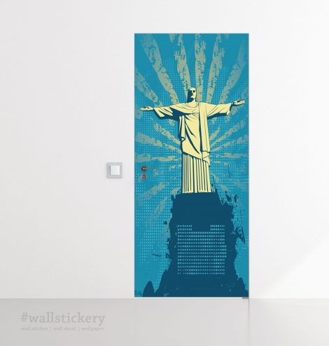Christ the Redeemer Door Wall Sticker Contact Paper home